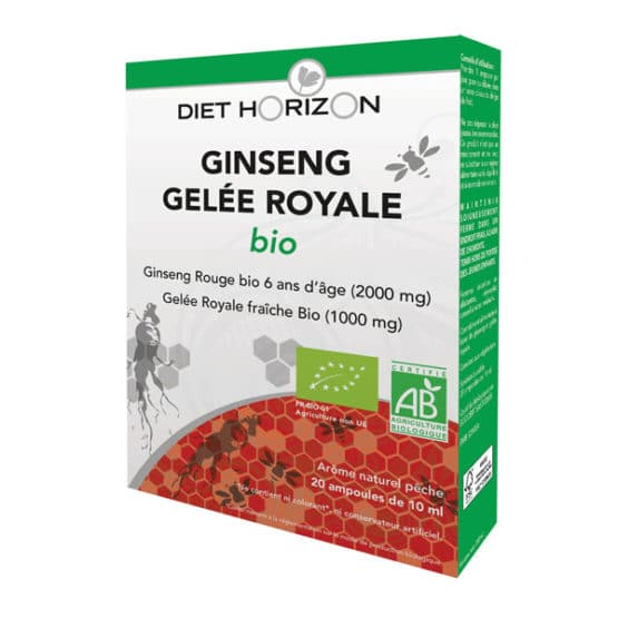Ginseng et gelée royale BIO Diet Horizon