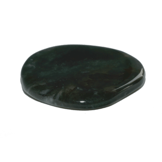 Agate Mousse (Dendritique) Pierre Plate