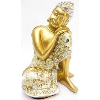 Statuette Bouddha Penseur Or