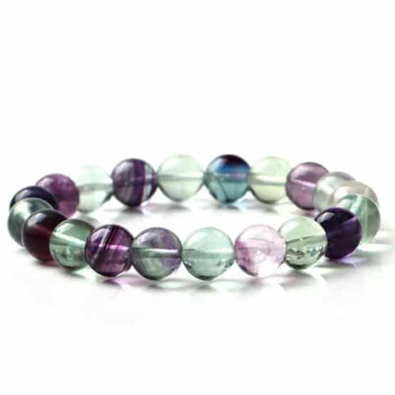 Bracelet Fluorite Multicolor 8mm