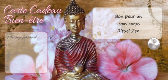 Bon cadeau soin corps rituel zen