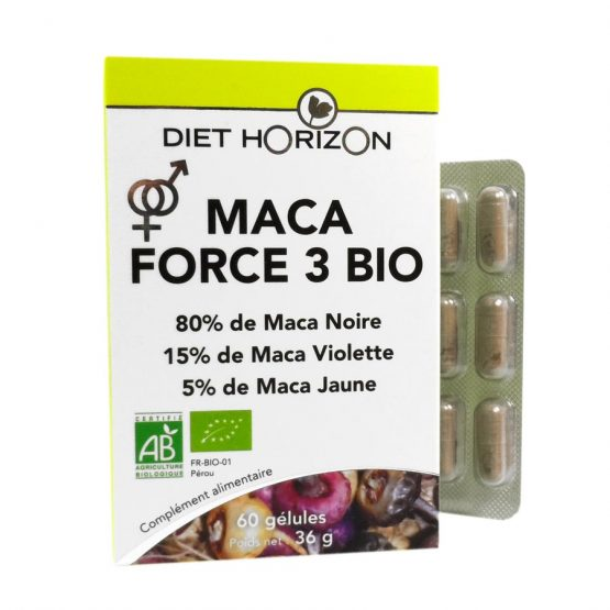 Maca Force 3 Bio – 60 gélules