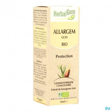 Herbalgem Allargem 50ml bio complexe contre les allergies