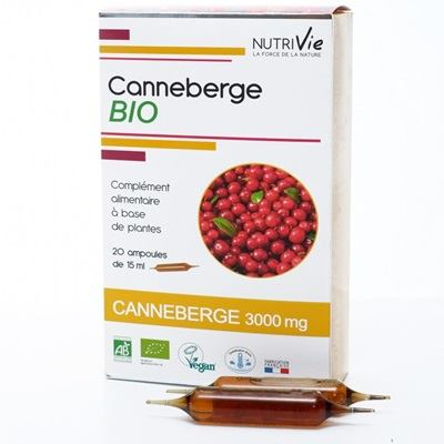 Canneberge bio, 20 ampoules