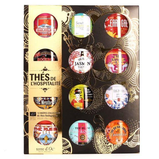 Collection de thés de l'hospitalité bio 12 boîtes Terre d'Oc