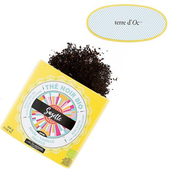 SUZETTE thé noir bio Saveur rhum, vanille & orange Terre D'oc
