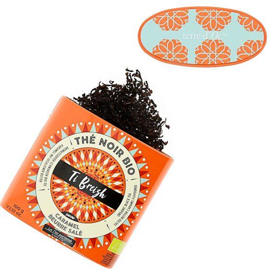 TI BREIZH thé noir bio Saveur caramel au beurre salé Terre D'oc