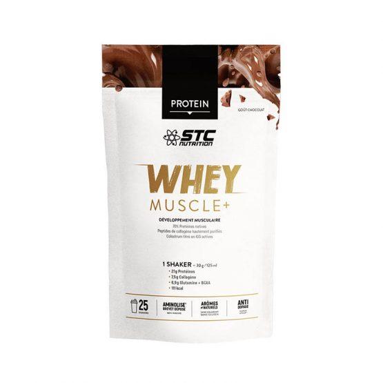 STC WHEY MUSCLE+ Chocolat 750G