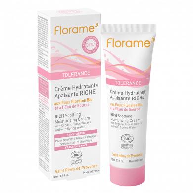 Florame  Tolérance – crème hydratante apaisante riche – 50ml