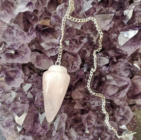Pendule Pointe Quartz rose