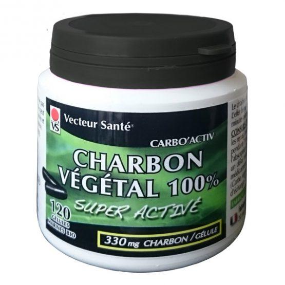 Charbon végétal super activé 100% pur x 120