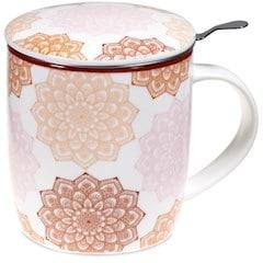 Boîte cadeau infuseur à thé Mug Mandala rose 400ml