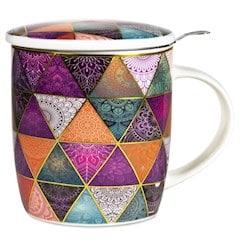 Boîte cadeau infuseur à Thé Mug Patchwork 400ml
