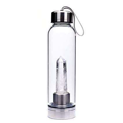 Bouteille de Guérison «Elixir de Pierre» Cristal de Roche