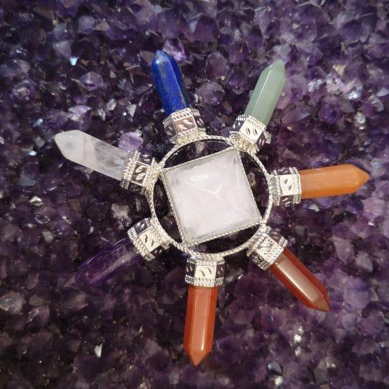 Générateur 7 chakras + cristal de roche